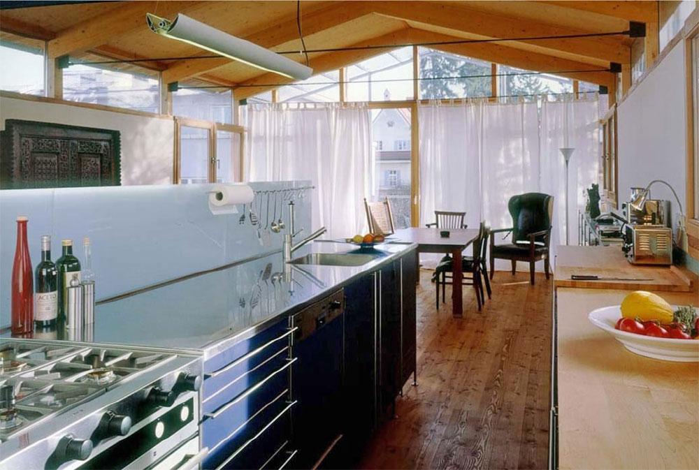 Penthouse Küche mit Essbereich im Süden
