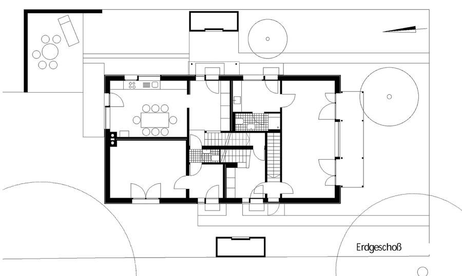 Grundriss 1 Erdgeschoss