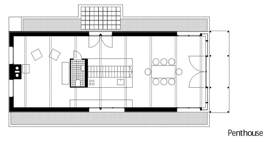 Grundriss 2 Penthouse