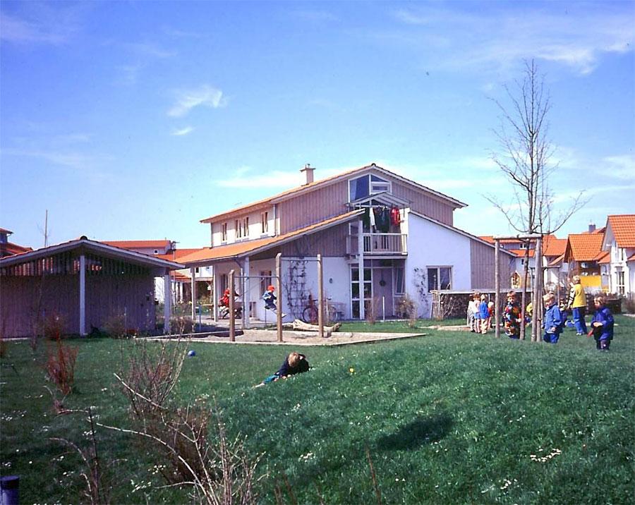 Haus mit Laterne in Leutkirch